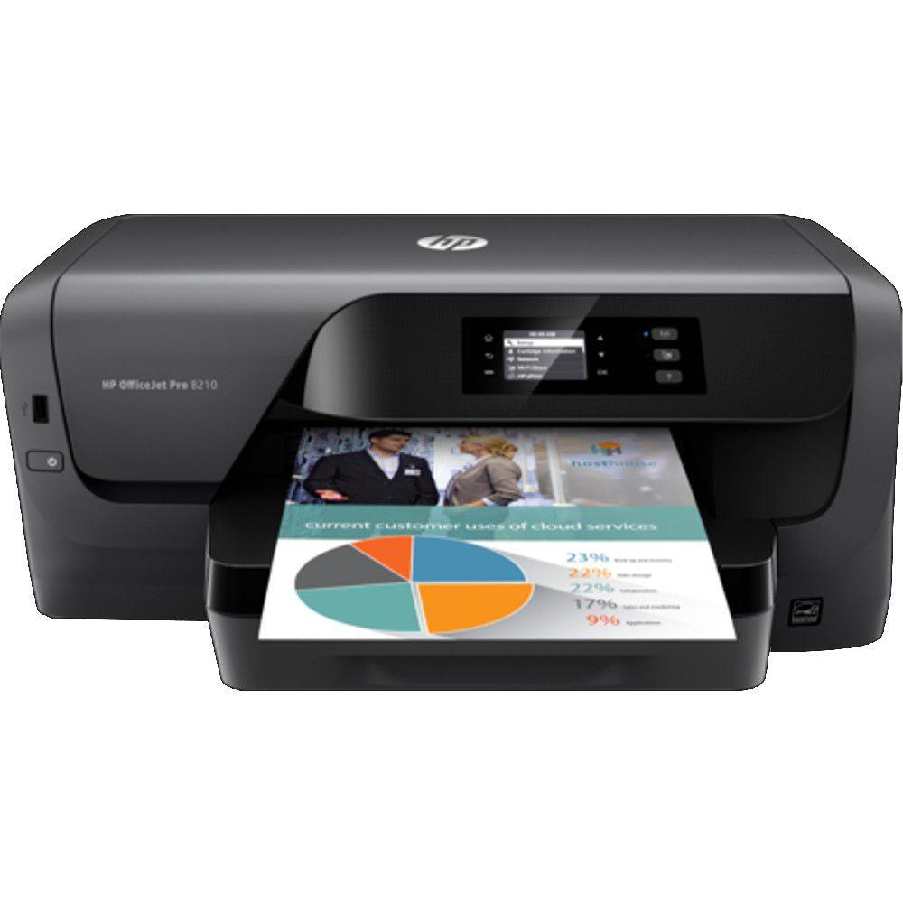 Impressora HP Officejet Pro 8210 Jato de Tinta, Duplex, Rede Ethernet, Wireless