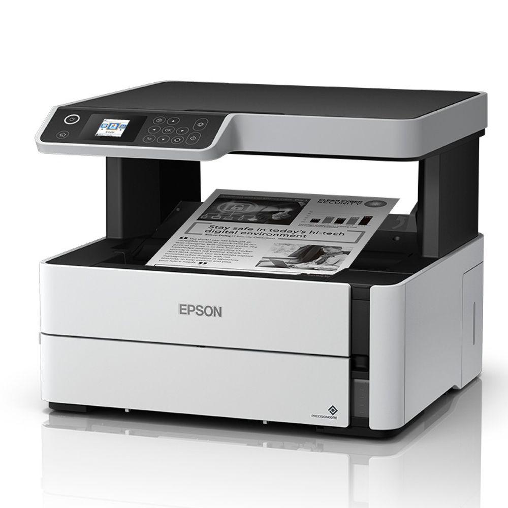 Impressora Multifuncinal Epson Inkjet, A4 39PPM, Wi-Fi Direct, Ethernet, Fax, ADF- M2170