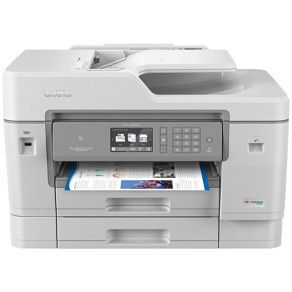 Impressora Multifuncional A3 Brother, Jato de Tinta, Scanner, Copiadora, Fax Lam - MFC-J6945DW