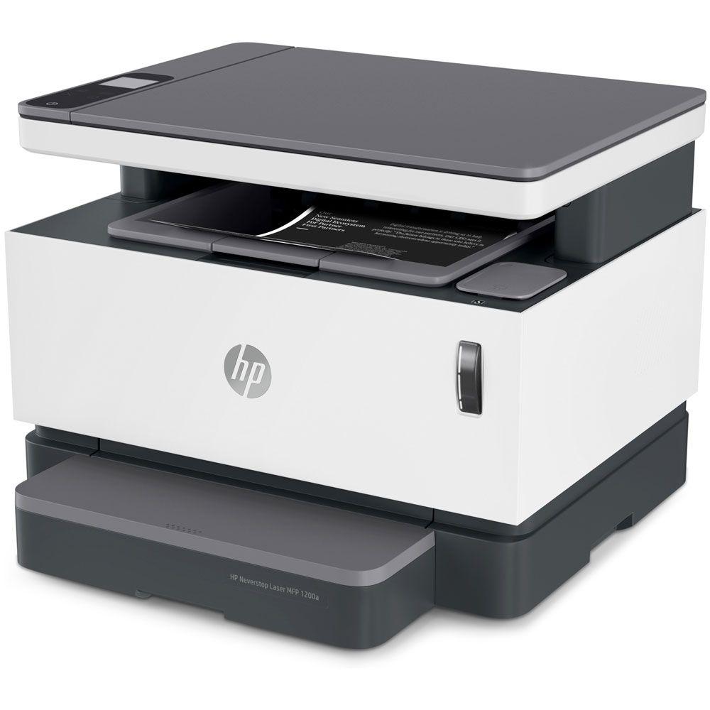 Impressora Multifuncional Laser HP Neverstop 1200W Tanque de Toner Monocromática Preto e Branco com Wi-Fi