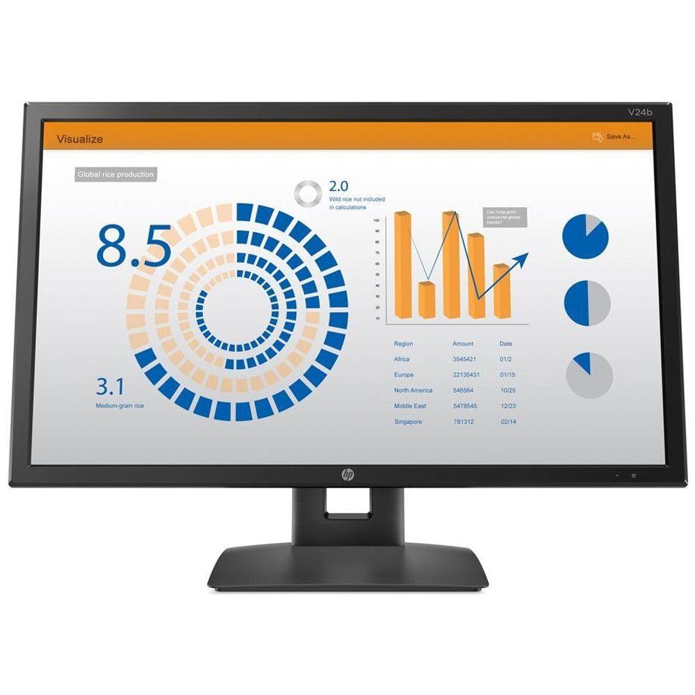 Monitor 23,6'' HP V24B Com Ajuste de Altura - 2XM34AA