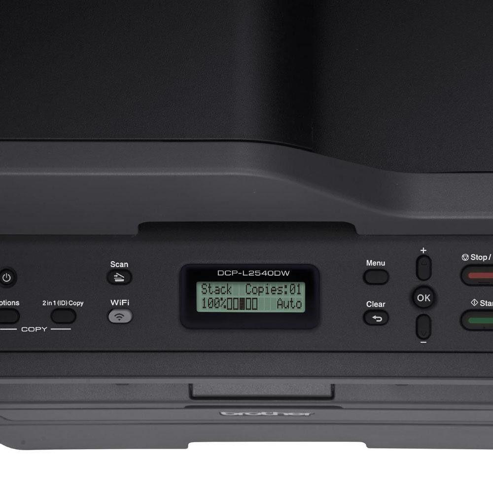 Multifuncional Brother L2540DW Laser Mono, Preta - DCPL2540DW