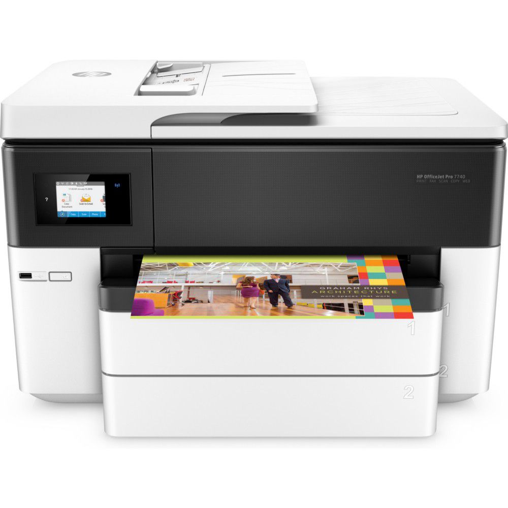 Multifuncional Jato de Tinta Color HP OfficeJet Pro 7740 All-in-One - Duplex, Wifi, Branca