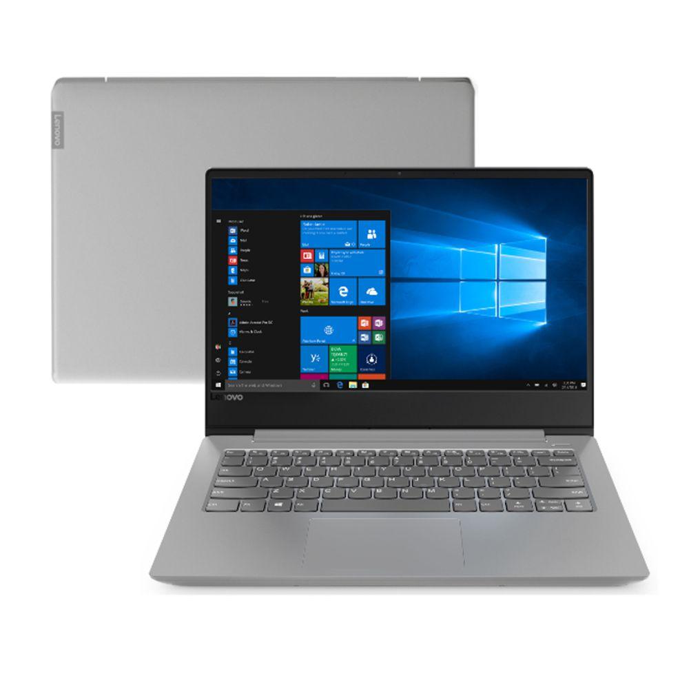 Notebook Lenovo B330s-14ikbr Tela 14,0'' Intel Core i5-8250u 8GB RAM SSD 256GB com Windows 10 Pro - Prata