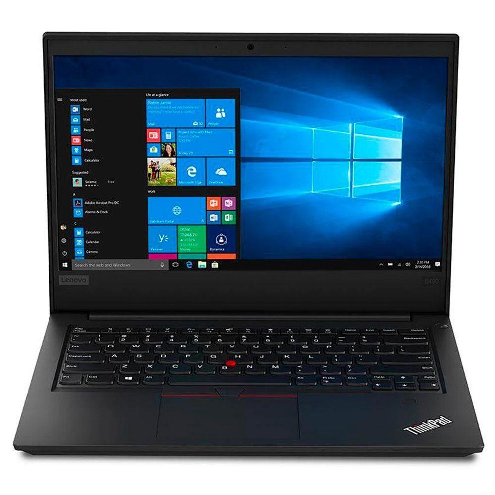 Notebook Lenovo E480, i5-8°Geração, RAM 8GB, HD 500GB, Tela 14'', Antirreflexo - Windows 10 Pro