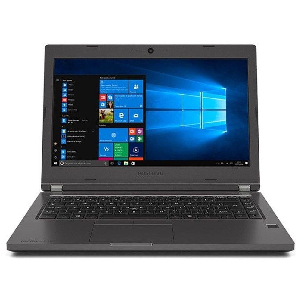 "Notebook Positivo Master N6140 Blackstone, Intel Core i3, 4GB, HD 500GB, Tela 14"" HD, Wi-Fi, W10 Pro"