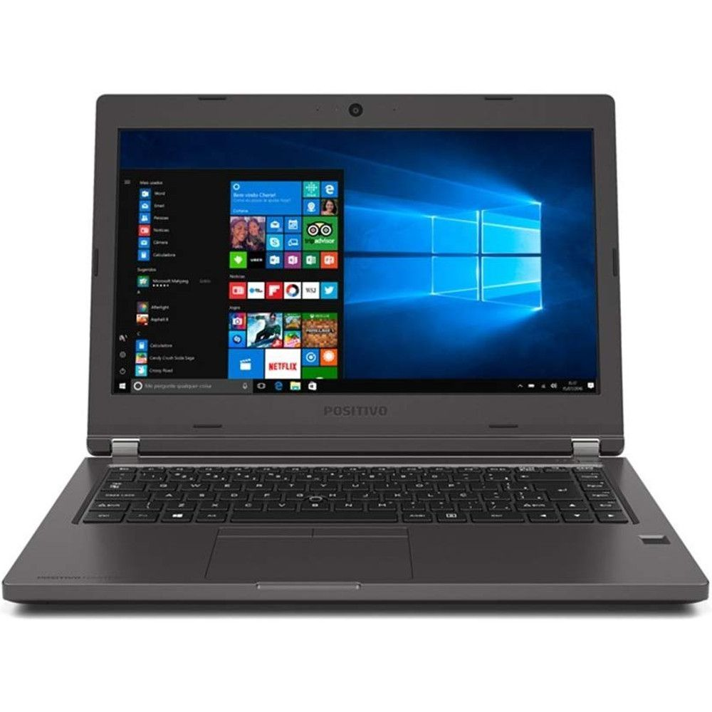 "Notebook Positivo Master N6140 Blackstone, Intel Core i5, 8GB, HD 1TB, Tela 14"" HD, Windows 10 Pro"