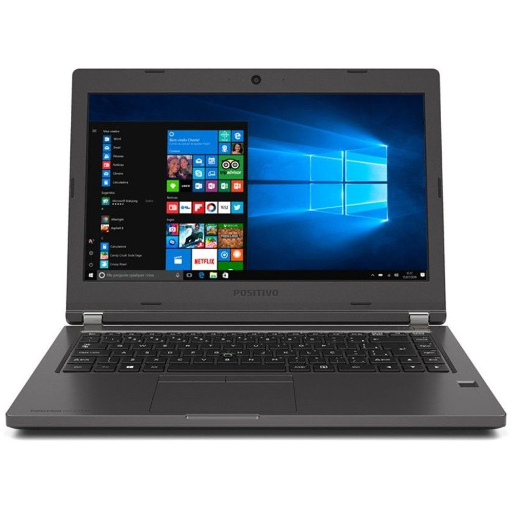 "Notebook Positivo Master N6140, Intel Core i3, 4GB, HD 500GB, Tela 14"" HD, Wi-Fi, Windows 10 Home"