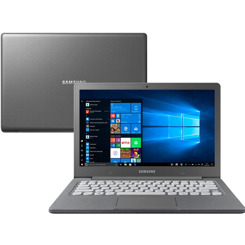 Notebook Samsung Flash F30, Intel Celeron N4000, Tela 13.3'', 4GB, Windows 10 Home