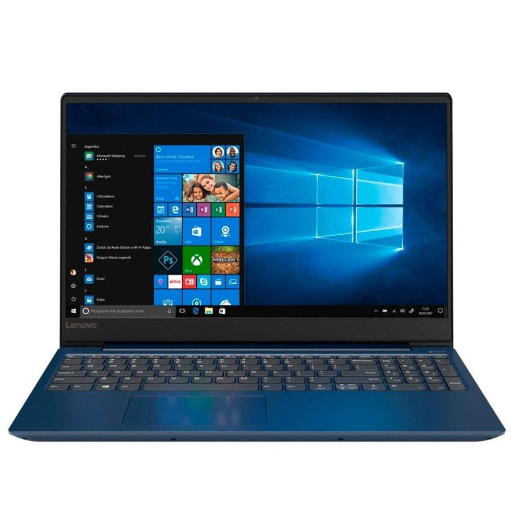 "Notebook Ultrafino Lenovo ideapad 330S-15IKB Ryzen7-2700u 8GB 1TB Windows 10 Tela 15.6"" HD 81JQ0002BR Azul"
