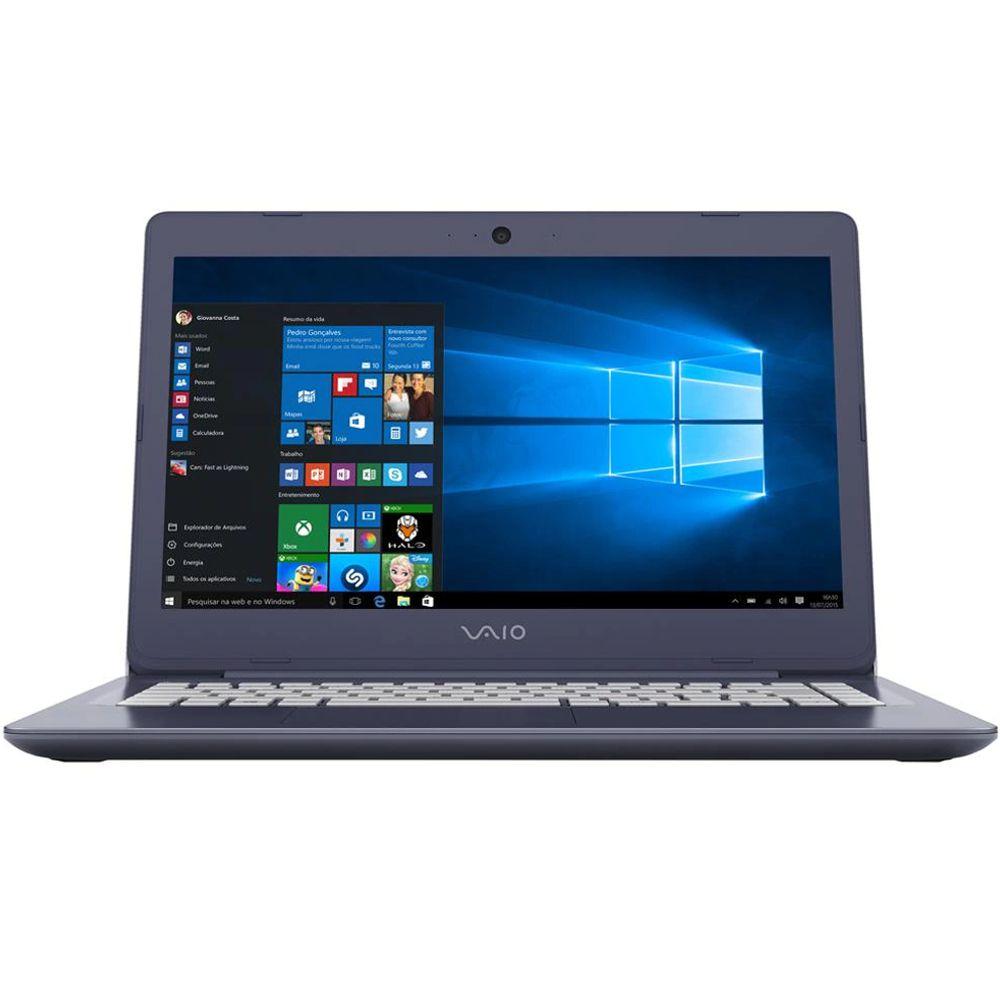 "Notebook Vaio C14, Intel Core i3, 4GB, HD 1TB, Tela 14"" LED, Windows 10 Home"