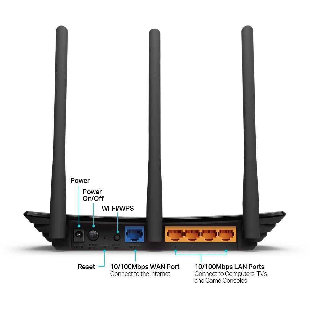 Roteador Wireless TP-Link TL-WR940N V3, 450Mbps, 3 Antenas Externas