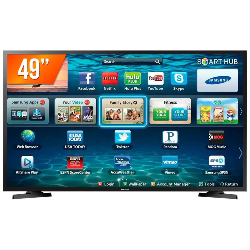 Smart TV 49'' LED Samsung LH49BENELGA, Business TV, Full HD, HDMI, USB, Preto - LH49BENELGA/ZD
