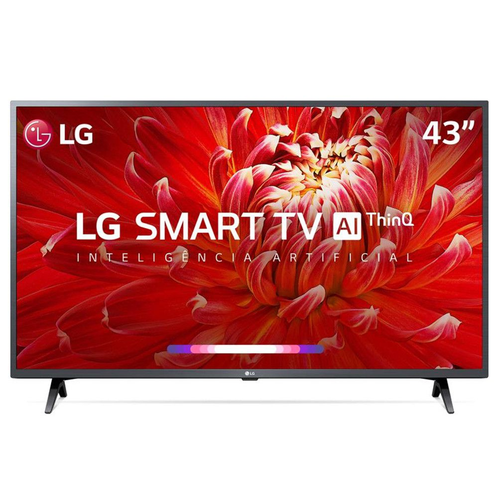 Smart TV LED 43''' LG, FULL HD, HDMI, USB, WIFI, Conversor Digital, Bilvolt - Preta