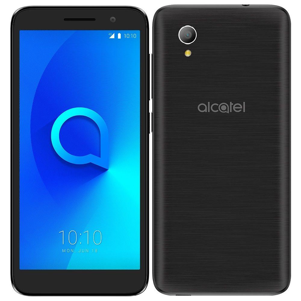Smartphone Alcatel 1 Preto, Dual Chip, Tela 5.0'', Android Oreo Go, Câmera 8MP, Memória 8GB - 4G