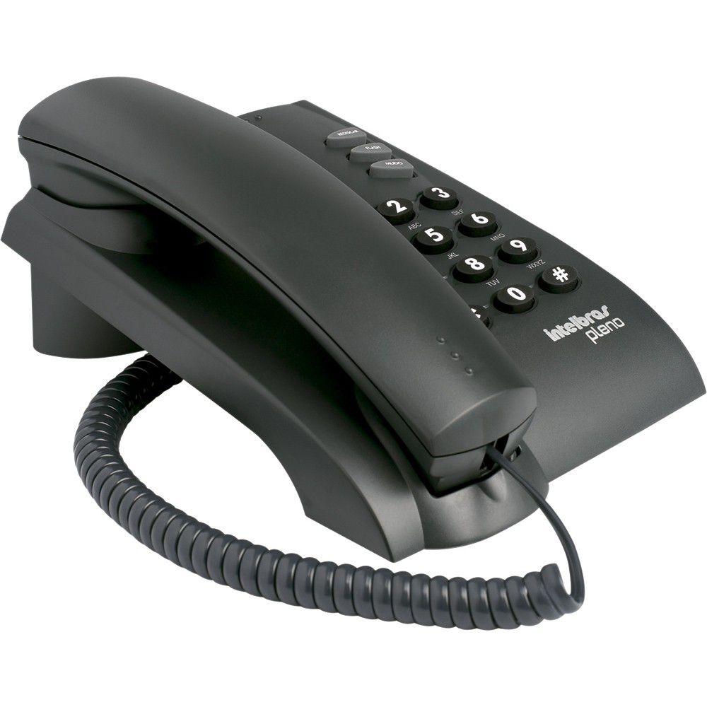 Telefone com Fio IntelBras Pleno Preto - 4080051