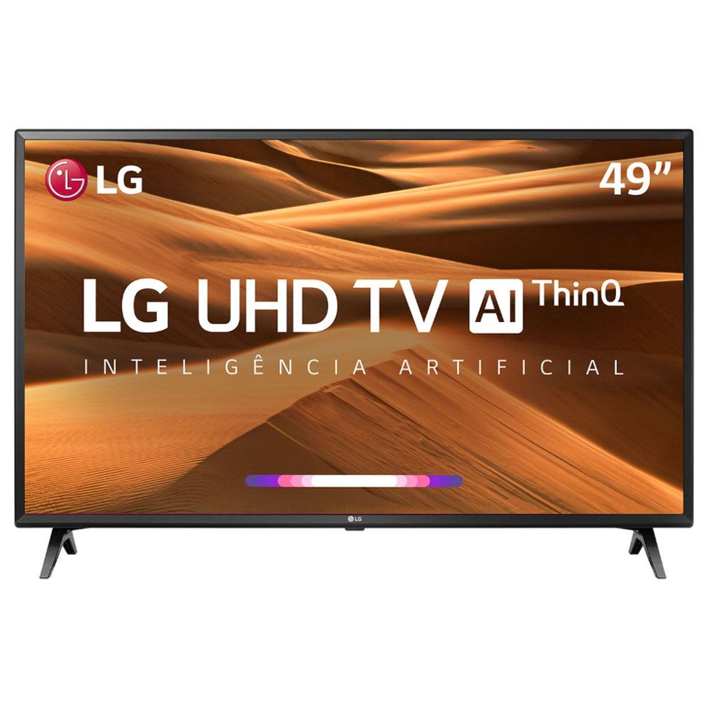 "TV LED 49"" LG 49UM7300 UHD 4K ThinQ AI, Smart TV, 4k HDR Ativo, Bluetooth, USB, HDMI."