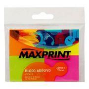 Bloco Adesivo Maxprint 50 Folhas 38x50mm 4 cores Neon