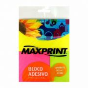 Bloco Adesivo Maxprint kit 3 blocos com 50 Folhas