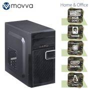 Computador Movva Hydro Intel I3 6100, 4GB, 500GB, Fonte 200W Linux