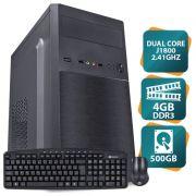 Computador Movva Lite Intel Dual Core J1800 2.41GHZ, 4GB, 500GB, 200W - Linux + Teclado + Mouse