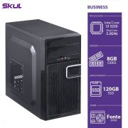 Computador Skul Business B300 I3, 8GB, SSD 120GB, FONTE 200W (sob Encomenda)
