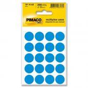 Etiqueta Adesiva Para Codificação Pimaco Com 200 Etiquetas TP-19 Azul