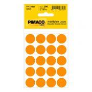 Etiqueta Adesiva Para Codificação Pimaco Com 200 Etiquetas TP-19 Laranja