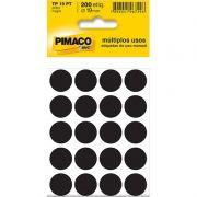 Etiqueta Adesiva Para Codificação Pimaco Com 200 Etiquetas TP-19 Preta