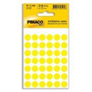Etiqueta Adesiva Para Codificação Pimaco Com 210 Etiquetas TP-12 Amarela