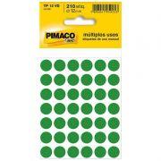 Etiqueta Adesiva Para Codificação Pimaco Com 210 Etiquetas TP-12 Verde