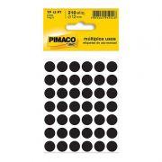Etiqueta Adesiva Para Codificação Pimaco Com 210 Unidades TP-12 Preta