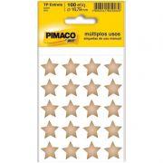 Etiqueta Adesiva TP-Estrela Pimaco Com 100 Etiquetas Ouro