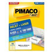 Etiqueta Inkjet Laser Pimaco Carta 1000 Etiquetas 50,8x101,6 6183