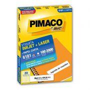 Etiqueta Inkjet Laser Pimaco Carta 2000 Etiquetas 25,4x101,6 6181