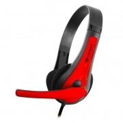 Headset C3 Tech PH-30BK Vermelho