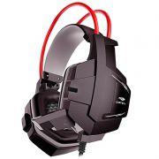 Headset Gamer C3 Tech Sparrow Preto e Vermelho PH-G11BK
