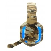 Headset Gamer Camuflado Xp-5 Selva Tecdrive Pc Xbox One Ps4 Azul e Bege