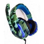 Headset Gamer Camuflado Xp-6 Selva Tecdrive Pc Xbox One Ps4 Azul e Verde