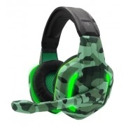Headset Gamer Camuflado Xp-6 Selva Tecdrive Pc Xbox One Ps4 Verde e Verde