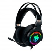 Headset Gamer Evolut USB EG340 Agni RGB Preto
