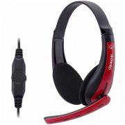 Headset Gamer Fortek Spider Venom SHS701 Preto e Vermelho - PC/Xbox360