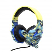 Headset Gamer Komc G306 Camuflado Azul PS4, XBOX e PC