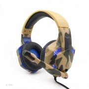 Headset Gamer Komc G306 Camuflado Bege PS4, XBOX e PC
