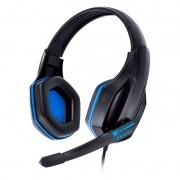 Headset Vinik Gamer Vx Ogma com Microfone P2 - Preto e Azul