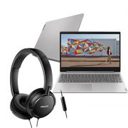 Kit Home Office Notebook Lenovo Ideapad S145 15,6 Intel Celeron, 4GB, 500GB + Headphone Philips Com Microfone SHL5005/00
