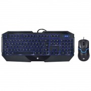 Kit Teclado e Mouse Gamer HP Com LED GK1100 Preto
