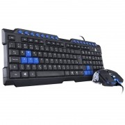 Kit Teclado e Mouse Gamer VX Gaming Vinik Grifo Azul