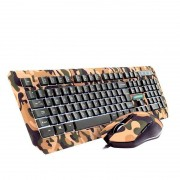 Kit Teclado e Mouse Gamer Warrior Kyler  TC249 Camuflado