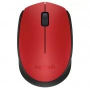 Mouse Sem Fio Logitech M170 Vermelho Wireless